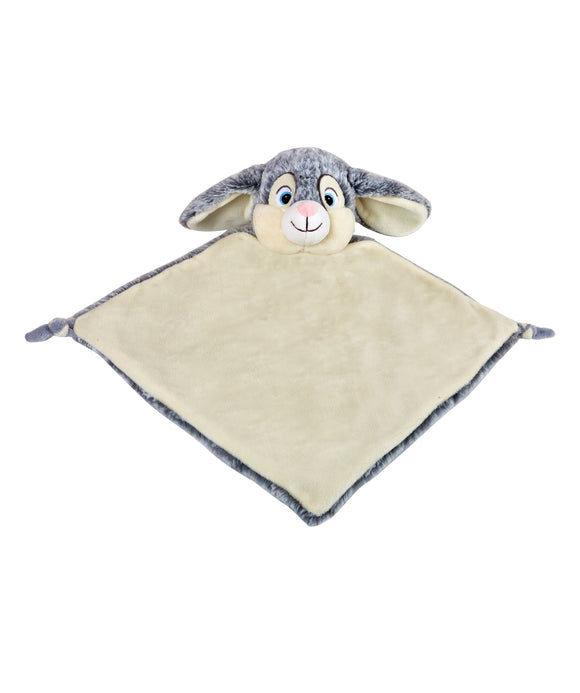Personalised Bunny Comforter - Grey - Debart Designs Embroidery