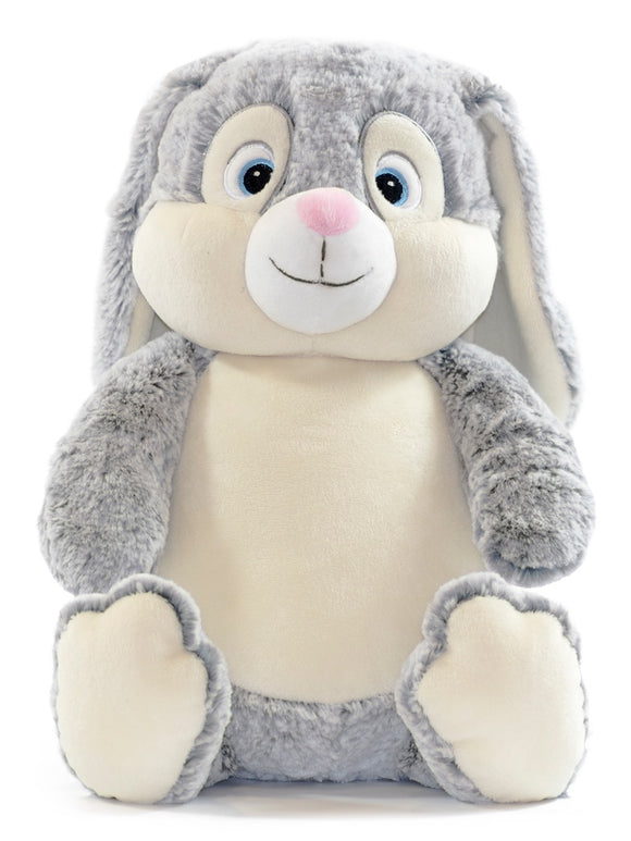 Personalised Bunny Cubby - Grey - Debart Designs Embroidery