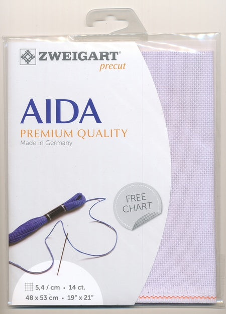 Zweigart Fabric Precut Aida 14ct Lavender Bliss - Debart Designs Embroidery