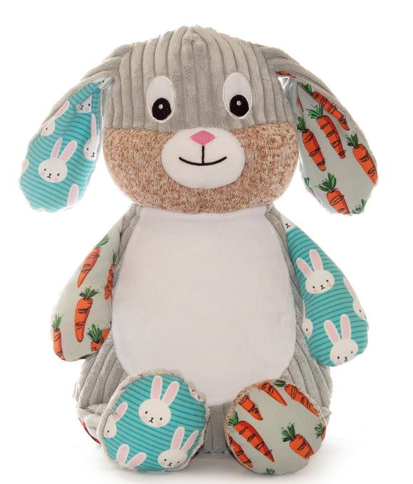 Personalised  Harlequin Bunny Cubby - Carrot print - 2020 Limited Edition