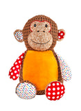Personalised Harlequin Monkey Cubby - Brown - Debart Designs Embroidery