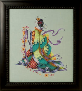Mirabilia Designs - Miss Dancing Flower MD170 cross stitch chart.