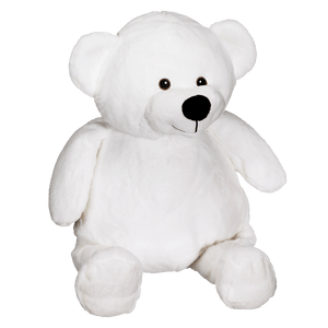 Personalised Embroidery Buddy - Mister Buddy Bear - White - Debart Designs Embroidery