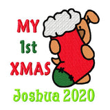 Personalised Embroider Buddy - Santa Buddy
