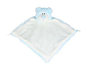 Personalised Bear Comforter - Blue