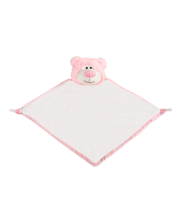 Personalised Bear Comforter - Pink