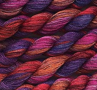 Fiberlicious Hand Dyed Spun Silk - Berry Burst - Debart Designs Embroidery