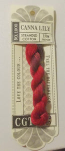 Cottage Garden Threads - 1000 Canna Lily Stranded Cotton
