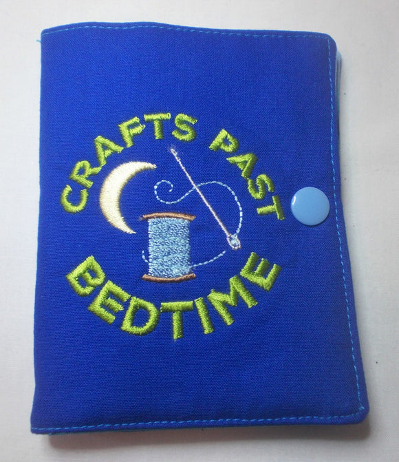 Crafts Past Bedtime - Needle book - Blue with accessories pocket