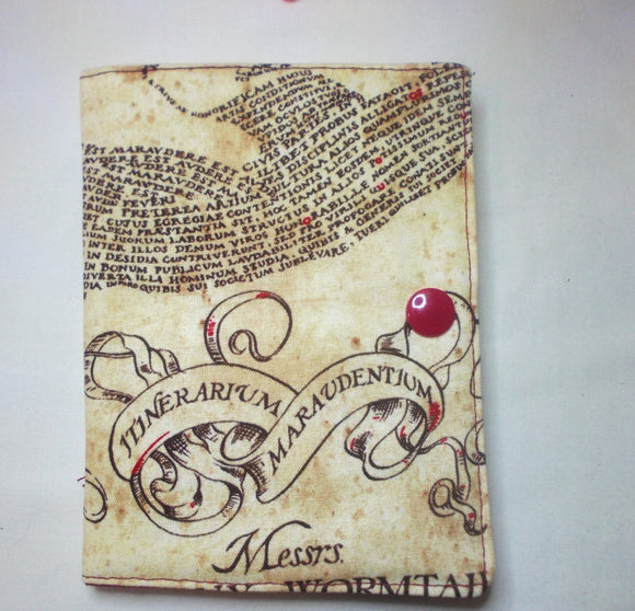 HP Maurders Map Fabric - Needle book