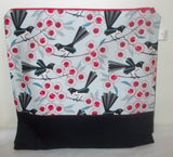 Large Cross Stitch/Craft Project Bag - Willie Wagtails
