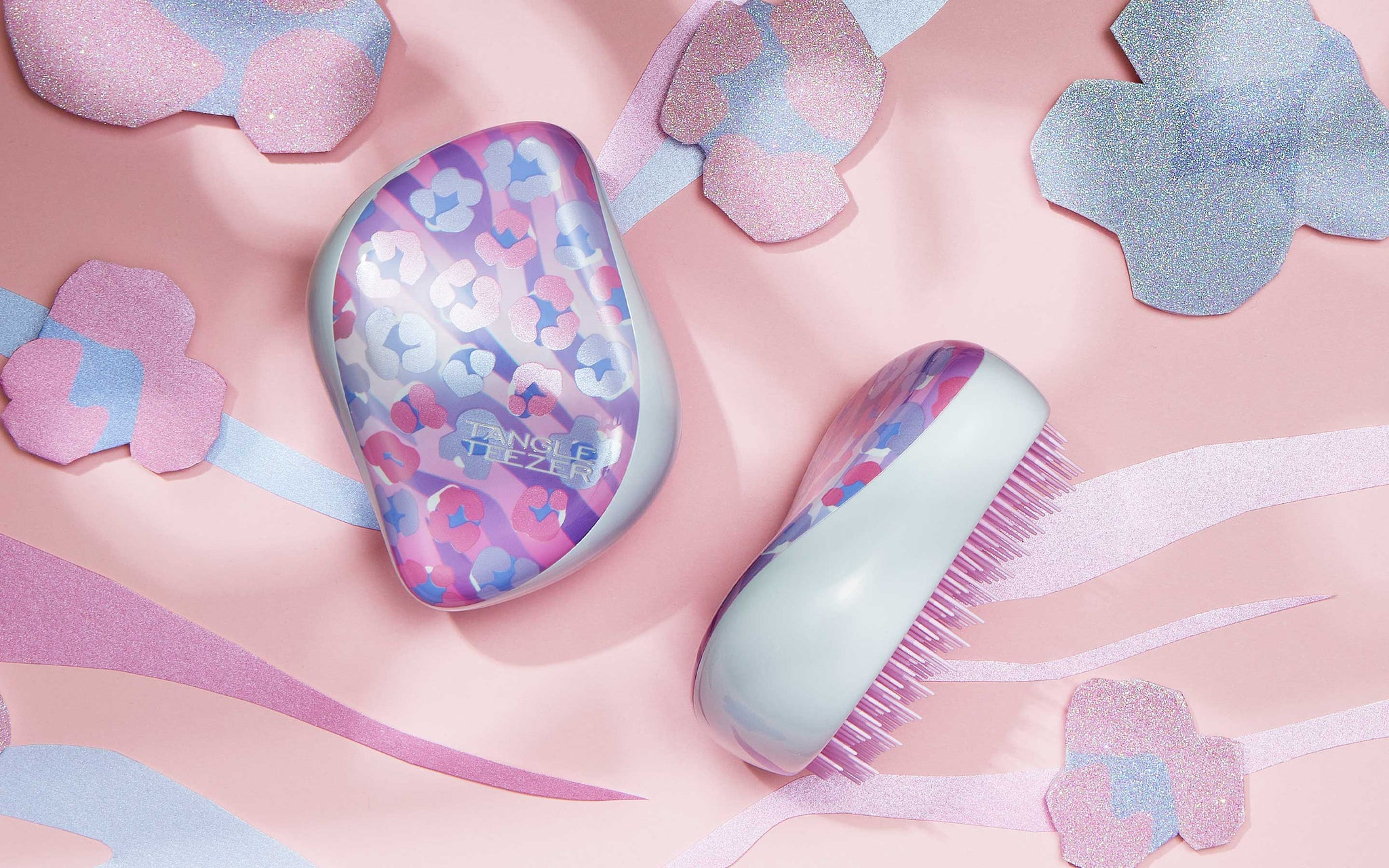 Tangle Teezer Compact Styler - Flowers Pink/Purple