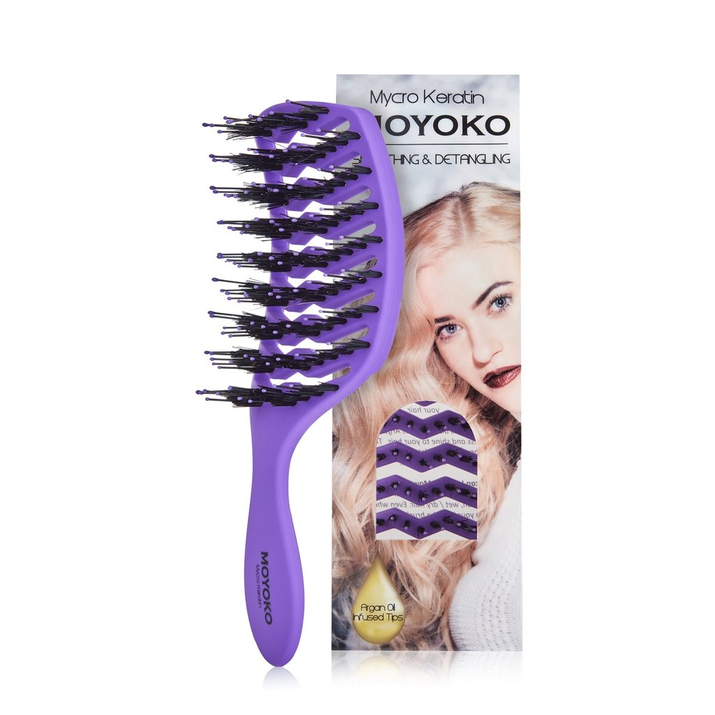 Moyoko Detangling Brush Purple