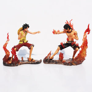 2pcs One Piece Luffy Ace Brotherhood Collectible Models