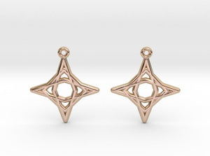 Diamond Star Earrings (Metal)