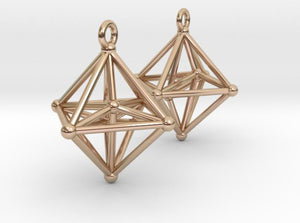 Hyperoctohedron Earrings (Metal)