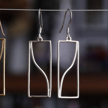 Load image into Gallery viewer, Tangent Function Earrings (Metal)