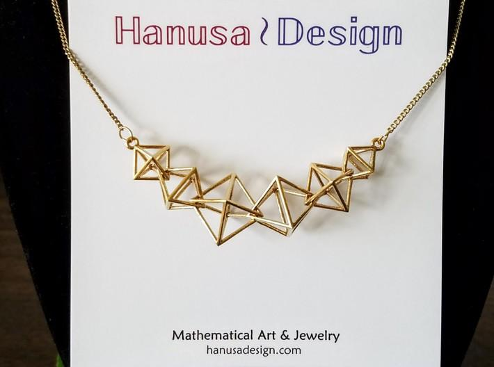 Interlocking Octahedron Necklace (Metal)