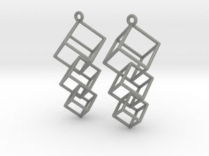 Dangling Cubes Earrings (Nylon)