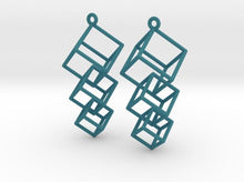 Load image into Gallery viewer, Dangling Cubes Earrings (Nylon)