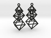 Load image into Gallery viewer, Dangling Octahedra Earrings (Nylon)