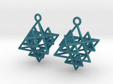 Load image into Gallery viewer, Koch Tetrahedron Earrings (Nylon)