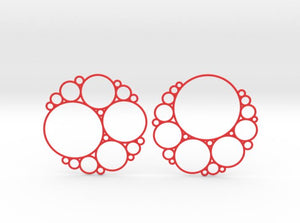 Bubbly Apollonian Earrings (Nylon)