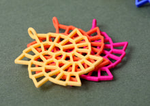 Load image into Gallery viewer, Fibonacci Snowflake Pendant (Nylon)