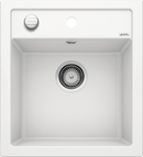 Blanco Dalago 45- 517160 White SILGRANIT In-Set kitchen sink with remote controlled strainer