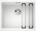 Blanco Etagon 500-U- 522231 White Undermount Kitchen Sink in SILGRANIT- InFino drain, Blanco Rails