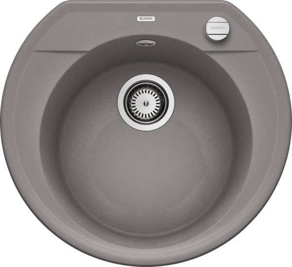 Blanco RONDOVAL 45 - 515659 Alumetallic In-set Kitchen Sink in SILGRANIT with automatic strainer