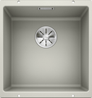 BLANCO SUBLINE 400-U- 523425 Pearl Grey Silgranit Undermount Kitchen Sink with InFino drain system