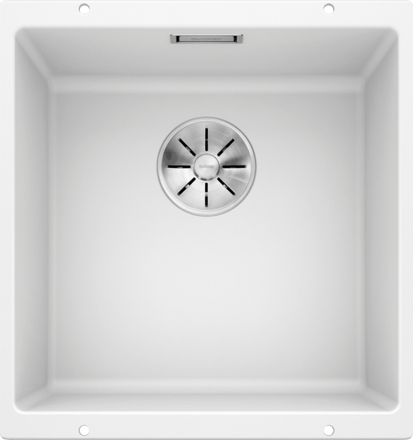 BLANCO SUBLINE 400-U- 523426 White Silgranit Undermount Kitchen Sink with InFino drain system
