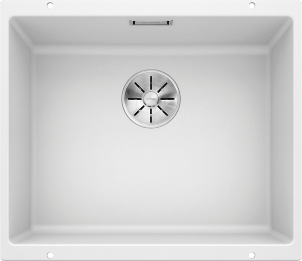 Blanco Subline 500-U- 523436 White Undermount Kitchen Sink in SILGRANIT - Infino drain system