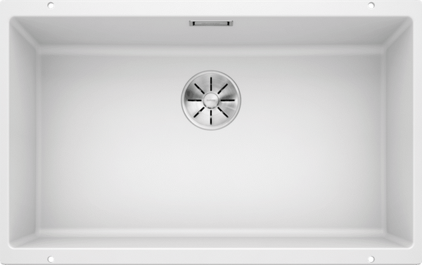 BLANCO SUBLINE 700-U 523446 - White Silgranit Kitchen Sink- Undermount, InFino drain