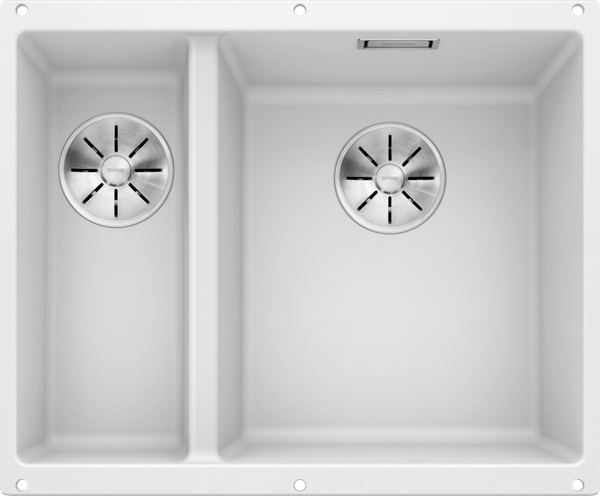 BLANCO SUBLINE 340/160-U 523562 White Undermount Kitchen Sink in SILGRANIT