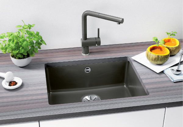 Blanco Subline 500-U InFino undermount Silgranit PuraDur kitchen sink 10 colours