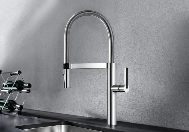 BLANCO CULINA-S stainless steel pull out kitchen tap