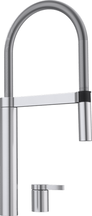 BLANCO CULINA-S DUO - 519783 POLISHED STAINLESS STEEL Pull-Out Kitchen Tap