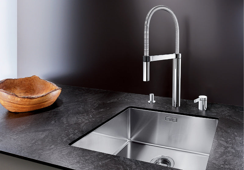 BLANCO CULINA-S DUO 519784 MATT STAINLESS STEEL Pull-Out Kitchen Tap