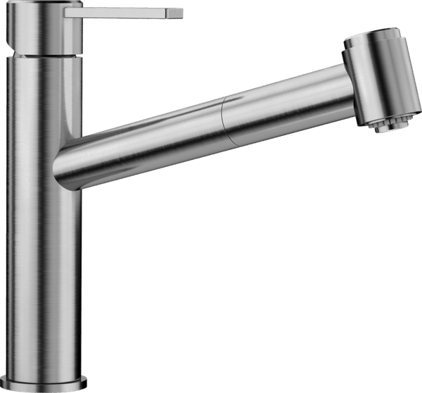 BLANCO AMBIS-S POLISHED STAINLESS STEEL 523119 Pull-Out Kitchen Tap BRAND NEW !