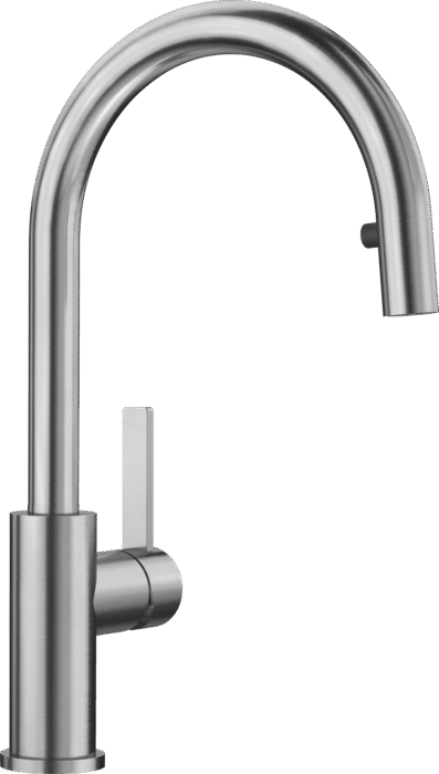 BLANCO CANDOR-S POLISHED STAINLESS STEEL 523121 Pull-Out Kitchen Tap