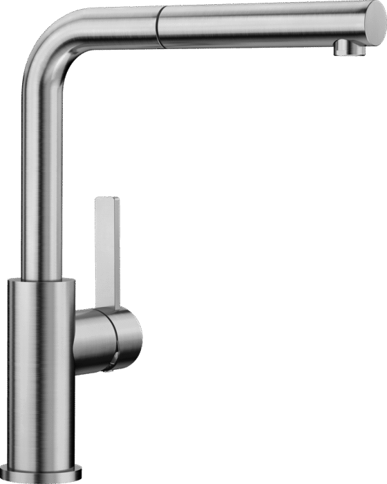 BLANCO LANORA-S 523123 Brusched Steel Single lever mixer tap High Pressure