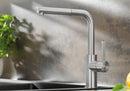 BLANCO LANORA-S Brusched Steel Single lever mixer tap High Pressure