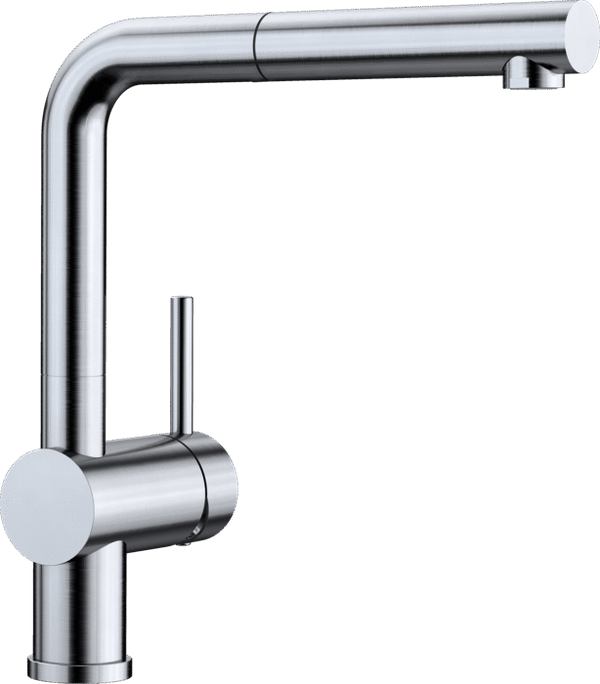 BLANCO LINUS-S 512404- Steel colour PULL-OUT Kitchen Tap