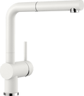 BLANCO LINUS-S - 516692 White Pull-Out Kitchen Tap in SILGRANIT