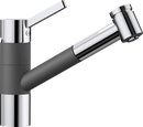 BLANCO TIVO-S CHROME ROCK GREY 518798 PULL-OUT Kitchen Tap