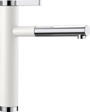 BLANCO LINEE-S 518441 White Silgranit Pull-Out Single lever High pressure tap
