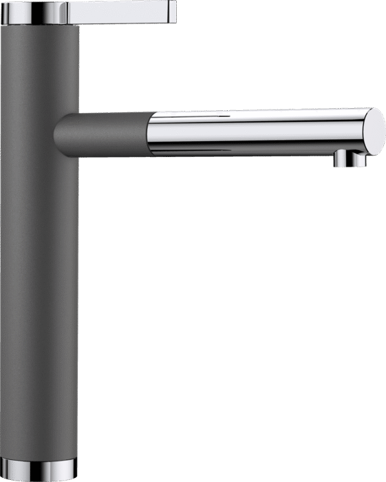BLANCO LINEE-S 518804 Rock grey Silgranit Pull-Out Single lever High pressure tap