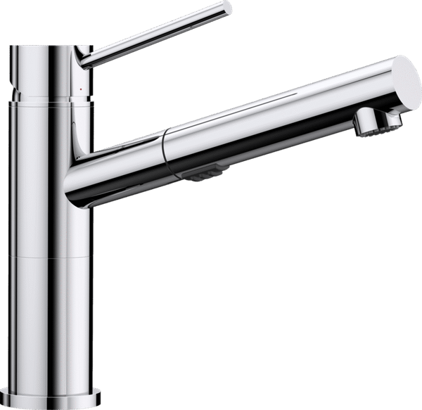 BLANCO ALTA-S Compact Vario - 518407 Pull-Out Chrome Kitchen Tap with Spray function